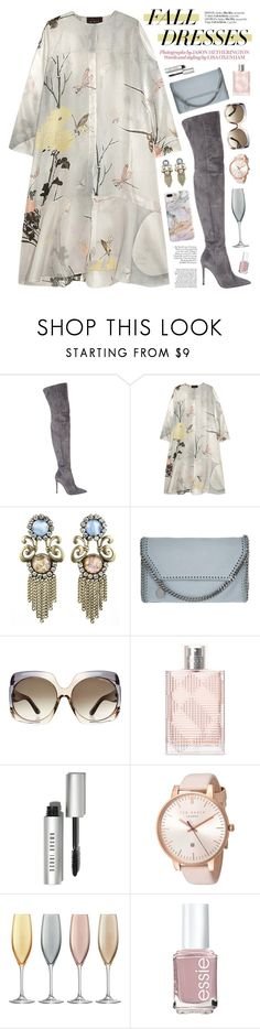 """Untitled #490"" by almost-glamorous ❤ liked on Polyvore featuring Gianvito Rossi, Biyan, DANNIJO, STELLA McCARTNEY, Tom Ford, Burberry, Bobbi Brown Cosmetics, Ted Baker, LSA International and Essie"