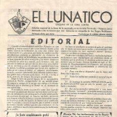 EL LUNATICO NUMERO UNICO 1962 MAGOS MELILLENSES PUBLICADO MELILLA COLECCIONISTAS MAGIA ILUSIONISMO