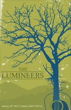 A concert poster I designed as a personal project for the band The Lumineers. Tour Posters, Band Posters, Forest Scenery, The Lumineers, Music Illustration, Expressive Art, Music Covers, Film Music Books, Folk Music