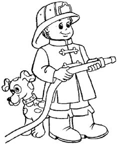 firefighter coloring page | Themes: Firefighters & Fire Safety ...