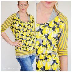 Schnittmuster / Anleitung / Tutorial / kostenlos / Freebie / Damen / T-Shirt / Oberteil / nähen / einfach / Free sewing pattern for ladies shirt (easy)