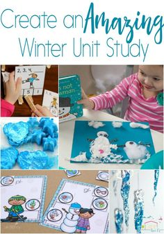 Create an amazing winter unit study with these fun, hands-on printables and activities for kids! Science, math, literacy, art and more! via @lifeovercs