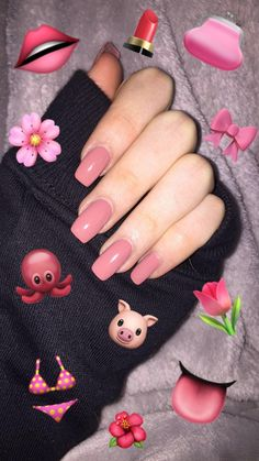 Emoji Wallpaper Iphone, Cute Emoji Wallpaper, Aesthetic Iphone Wallpaper, Aycrlic Nails, Cute Nails, Pretty Nails, Emoji Pictures, Artsy Photos, Dream Nails