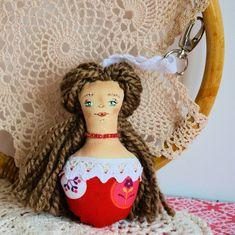 Brelok - Panna Ścinka - ręcznie malowana ( 5 ) Panna, Christmas Ornaments, Holiday Decor, Jewelry, Xmas Ornaments, Jewellery Making, Jewerly, Jewelery, Christmas Jewelry
