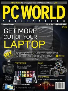 PCWorld Philippines October 2008 cover
