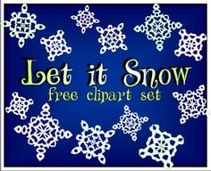 Let It Snow Clip Art Set - FREE for personal or commercial use