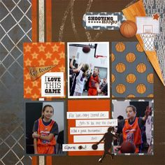 Basketball Scrapbooking Layout Idea from Creative Memories