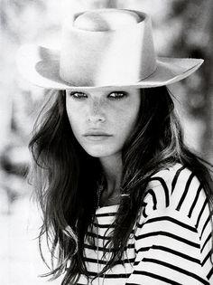classic stripes + beach hat