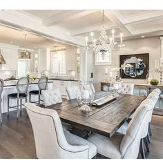 5 Easy Tips to Master Transitional Design ~ oneplustwo design co. room design transitional 5 Easy Tips to Master Transitional Design ~ oneplustwo design co. Rustic Home Interiors, Farmhouse Interior, Rustic Farmhouse, Farmhouse Style, Rustic Wood, Rustic Table, Rustic Decor, Inspire Me Home Decor, Dining Room Table Decor