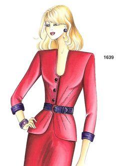 Marfy Patterns, Sewing Patterns, Fashion Illustration Template, Pattern Illustrations, Italian Pattern, Fashion Drawing Dresses, Sewing Shirts, Playing Dress Up, Pattern Fashion