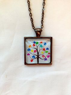 Autism Tree necklace by Eternally29 on Etsy, $18.00