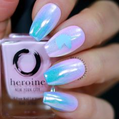What would you add to manicure with just unicorn head? Any objects or patterns? Adorable unicorn nails by @sensationails4u using Whats Up…