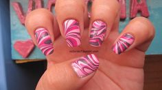 I'm loving Pink Friday for water marbling. Colors used:  OPI - Pink Friday Zoya - Areej, Kelly