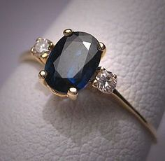Vintage Sapphire Diamond Wedding Ring Estate Engagement $495
