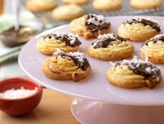 Chocolate Coconut Cookies -- Soft, chewy and absolutely delicious, these cookies feature a winning combination of chocolate and coconut. But the key ingredient that makes them so good is the light and airy puff pastry.