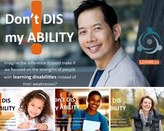 """October is Learning Disabilities Awareness Month.  This year's theme is """"Don't Dis my ABILITY.""""  Read more about it in this blog post."""
