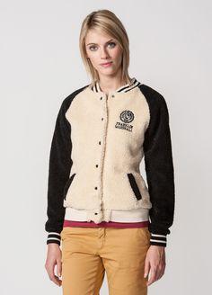 F & M letterman jacket in synthetic faux #FW13