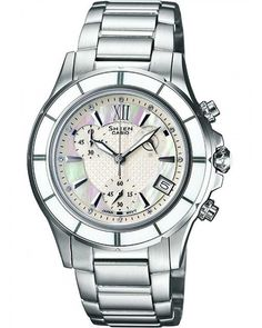 Sheen Casio Ladies Mother Of Pearl Dial Watch SHE-5516D-7AEF http://www.thesterlingsilver.com/product/skagen-womens-watch-358sslb/