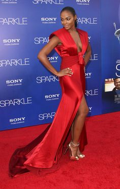 Tika Sumpter looks amazing in red #Sparkle
