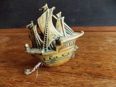 SALE Antique Sewing Tape Measure- Sailing Ship by theravenandrose on Etsy https://www.etsy.com/listing/194572657/sale-antique-sewing-tape-measure-sailing