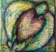 keystrokes  kaleidoscopes: Slow  Steady Mixed Media Turtle painting using StencilGirl stencils.