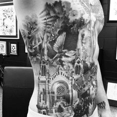 50 Cathedral Tattoo Designs For Men - Church Ink Ideas Unique Tattoos, Small Tattoos, Cool Tattoos, Amazing Tattoos, Mens Tattoos, Tattoo Pics, Tatoos, Side Tattoos, Tattoos For Guys