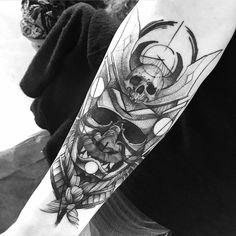 Skull tattoo art by Fredao Oliveira