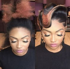 Sleek, smooth finger waves are her claim to fame for very obvious reasons. This Hairstylist Thinks Her Stunning Retro Looks Belong In An Art Museum And She's Goddamn Right 40s Hairstyles, Black Girls Hairstyles, Vintage Hairstyles, Weave Hairstyles, Gorgeous Hairstyles, Medium Hairstyles, Wedding Hairstyles, Finger Wave Hair, Finger Waves