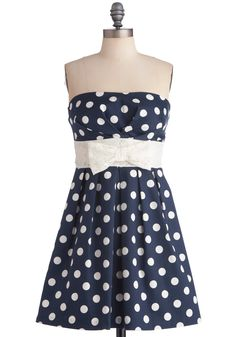 Among My Piers Dress. A seaside party on your pals boat calls for fashion to excite all of your friends. #blue #modcloth