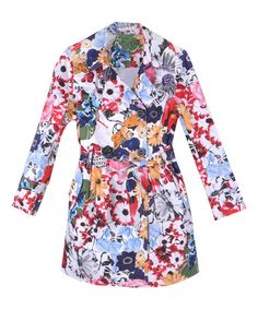 Look at this Richie House White & Pink Floral Trench Coat - Toddler & Girls on today! Teen Fashion Blog, Kids Fashion, Fall Fashion, Girls Winter Coats, Kids Coats, Kids Outfits, Cool Outfits, Mantel, Trench