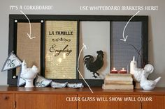 DIY message board from old window. Love the birds Recycled Door, Recycled Art, Home Crafts, Diy Home Decor, Diy Crafts, Diy Recycle, Reuse, Old Windows, Message Board
