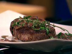 Tenderloin of Beef in Mushroom, Mustard and Red Wine Sauce recipe from Bobby Flay via Food Network