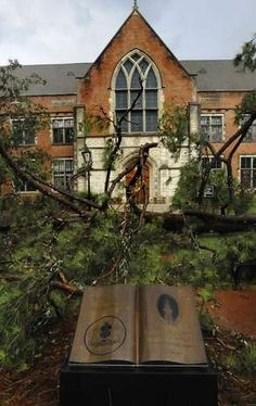 Storm damage, August 8, 2011. Huntingdon College, College Board, August 8, House Styles