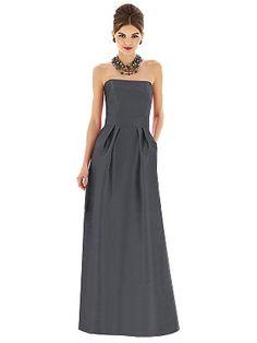 Alfred Sung Style D617 in Ebony #PatsysBridal #AlfredSung #bridesmaid www.patsysbridal.com