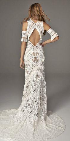 Sparkly Bohemian Rue De Seine Wedding Dresses ❤ See more: http://www.weddingforward.com/rue-de-seine-wedding-dresses/ #weddings