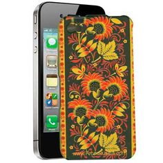 iPhone 4 'Khokhloma' Mobile Phone Cover    FromRussia.com