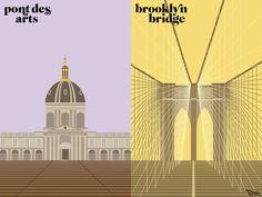 Nueva York comparado con París en ilustraciones, imagen 2