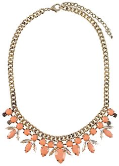 We hope you love these femme gems as much as we do | Coral Blossom Bib Necklace | jewelboxonline.com