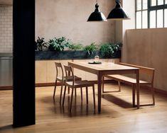 Isokon Plus — Home Dining Table Corian Oak Dining Table, Contemporary Interior Design, Portsmouth, The Good Place, Furniture Design, Indoor, Shelves, Corian Top, House