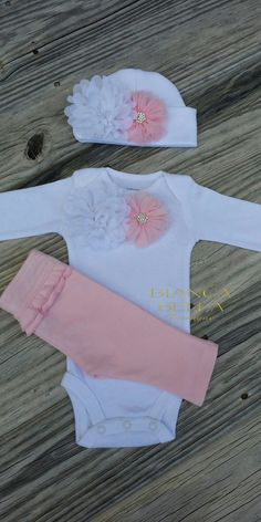 Newborn Take Home Outfit Baby Girl Outfit Newborn Outfit Coming Home Outfit  Going Home Outfit Photo Prop Outfit Hospital Outfit by BiancaBellaBoutique on Etsy