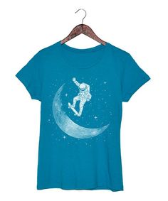 Love this Turquoise Skateboard Astronut Fitted Tee on #zulily! #zulilyfinds