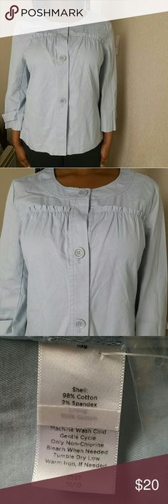 Talbots Blue Jacket NWOT This jacket is in great condition, NWOT ! Materials : shown in photo #3. I consider this jacket NWOT, because it still has the extra buttons ( shown in photo #4) Feel free to make an offer! No trades. Please don't advertise your closet. Talbots Jackets & Coats