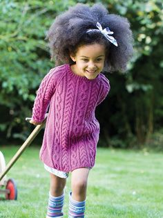 Knitted baby dress spokes