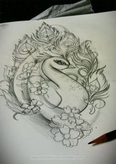 peacock Tattoo Designs | ... sketch I was working on today for a customer. Girlie peacock tattoo