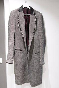 Le Grande Bleu (L.G.B.) (last drop) Linen Wool Coat Size l - Heavy Coats for Sale - Grailed