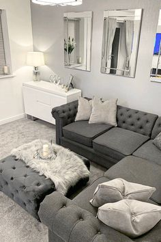 room decor Classy grey - I Love Wallpaper Sparkle Plain Texture Wallpaper Grey Living Room Ideas Uk, Classy Living Room, Living Room Decor Cozy, Living Room Goals, Living Room Grey, Home Living Room, Living Room Interior, Living Room Designs, Living Area