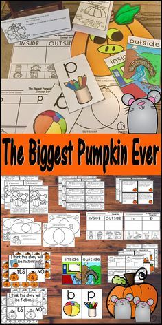 Pumpkins, Mice, and Halloween, Oh My! What a great week of ELA for Kindergarten students, First Graders, Second Grade Students, and Third Graders! This will be a week full of fun, exciting, engaging  opportunities for your students to learn how to dig deeper into text with this Picture Book of The Biggest Pumpkin Ever, by Steven Kroll. Lesson Plans, Activities, and Craftivity are all planned and waiting for you. Just supply the book, and you are ready to go!