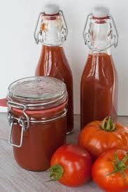 Zelf Tomatenketchup Maken (dus Zonder E. Nrs) recept | Smulweb.nl Food Bulletin Boards, Hot Sauce Bottles, Chutney, Hamburgers, Italian Recipes, Ketchup, Food To Make, Dips, Jar