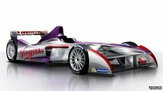 Virgin joins Formula E electric racing car series PIC The Virgin Formula E car and livery
