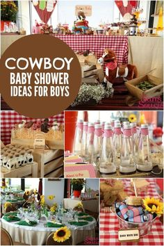 Boy's Cowboy Themed Baby Shower Party Ideas